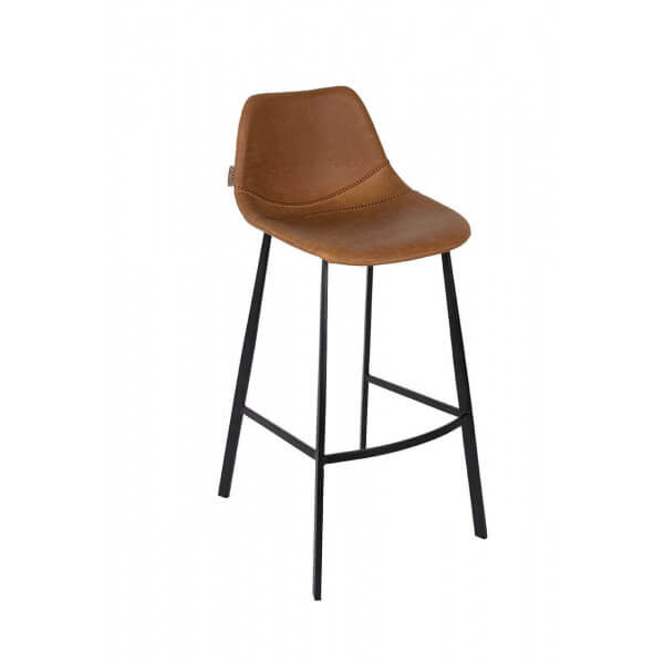 Chaise de bar marron