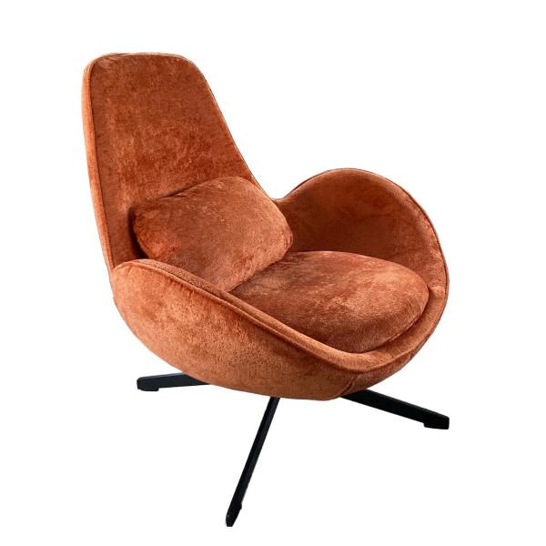 SPACE - Contemporary armchair in orange velvet