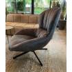 Grey Swivel armchair Tessano