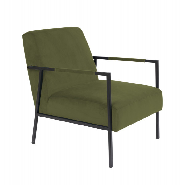 GRIB - Fauteuil en velours vert