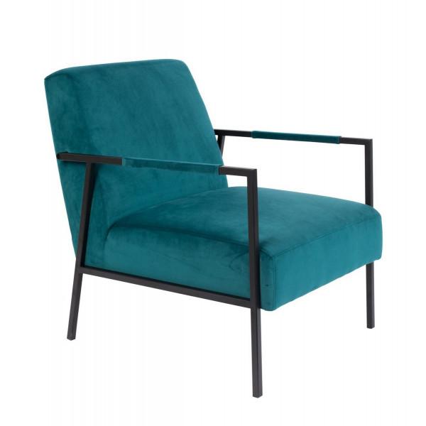 GRIB - Fauteuil en velours bleu