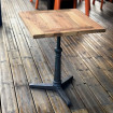 Table bistrot bois massif 60