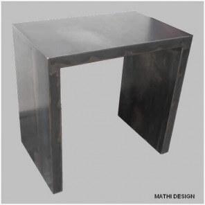 Petit bureau acier brut patine 1325