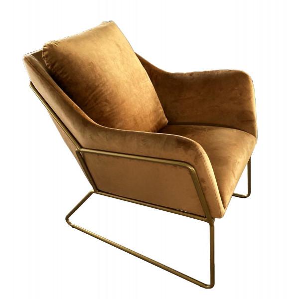 Brown golden armchair