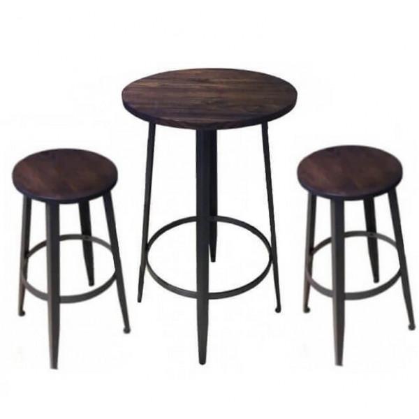 Ensemble table tabouret haut Pub