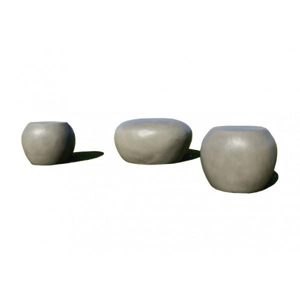 galets beton exterieur gris
