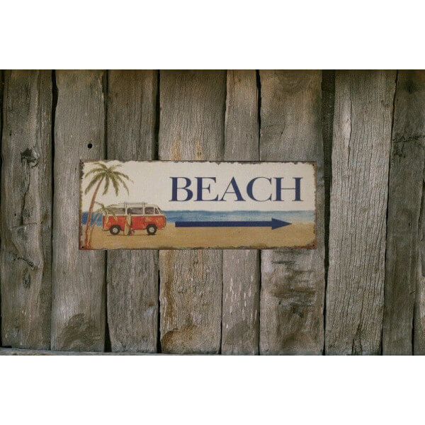 Plaque deco Beach 1338