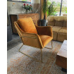 Orange golden armchair