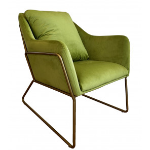 Green velvet armchair Golden
