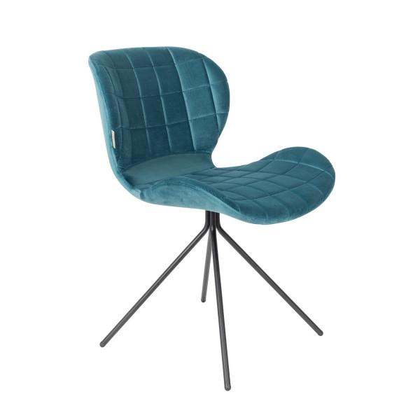 Blue velvet OMG design chair
