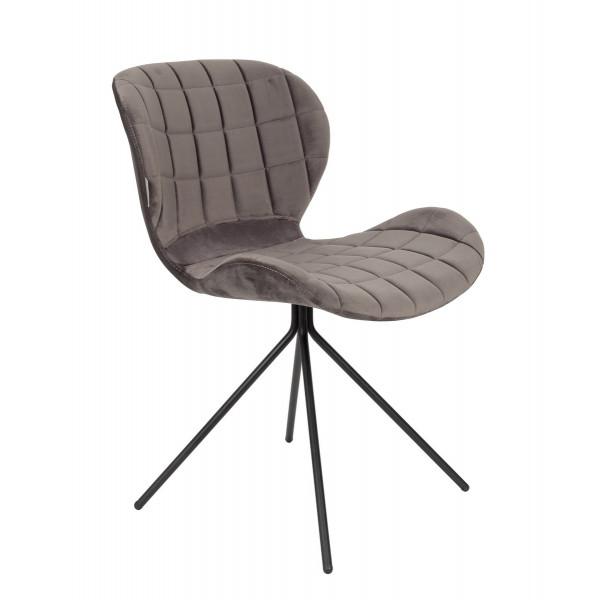 Grey velvet dining chair OMG