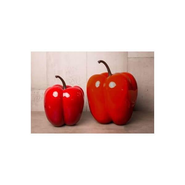Poivron rouge design décoratif, fruit geant interieur et exterieur on