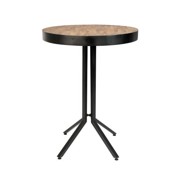 Table haute en bois marron