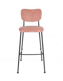 BENSON - Chaise de Bar rose Zuiver