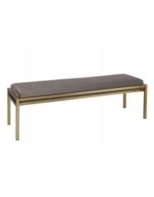 LAITON - Green velvet bench