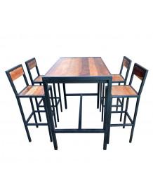 FACTORY - Ensemble haut rectangulaire bois acier