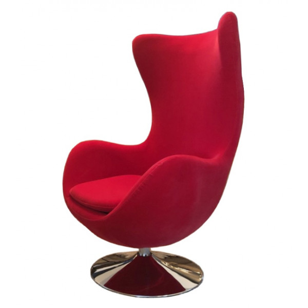Red Design armchair Suede