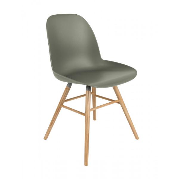 Chaise repas design vert