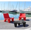 Outdoor Lounge set: red/dark grey