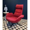 Fauteuil confortable velours rouge