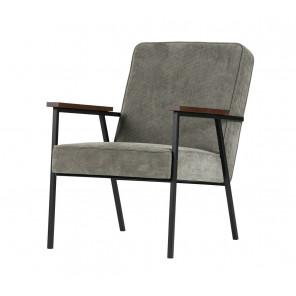 Grey green ribcord arm chair