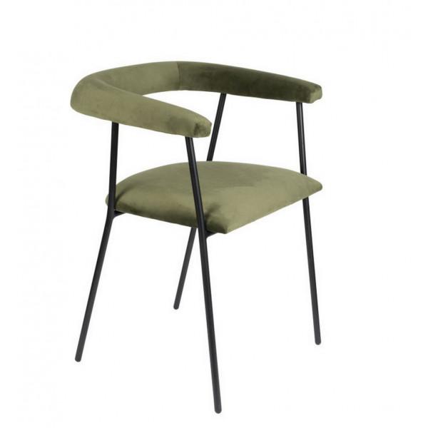 Haily - Green Velvet dining chair