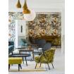 VOGUE - Grey velvet armchair