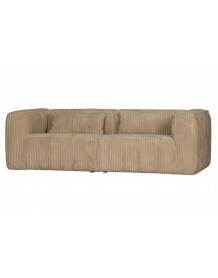 BEAN - Cream ribcord 3 Seater Sofa