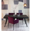 HAVANE - Table repas bois noir et acier