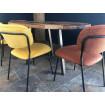 BELLAGIO - Chaises de repas - tissu jaune et orange