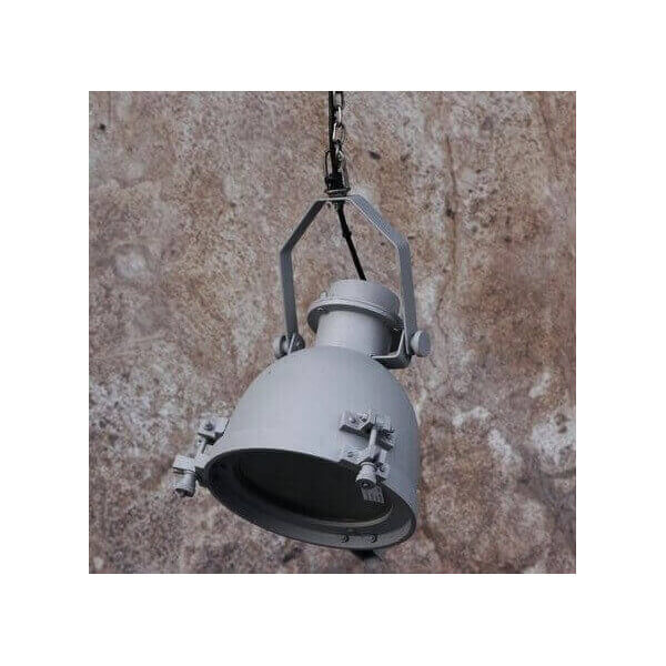 Steel and concrete hanging lamp