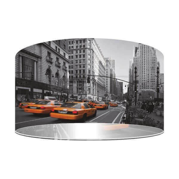 street pendant lamp representing new york city and yellow taxis. Black Bedroom Furniture Sets. Home Design Ideas