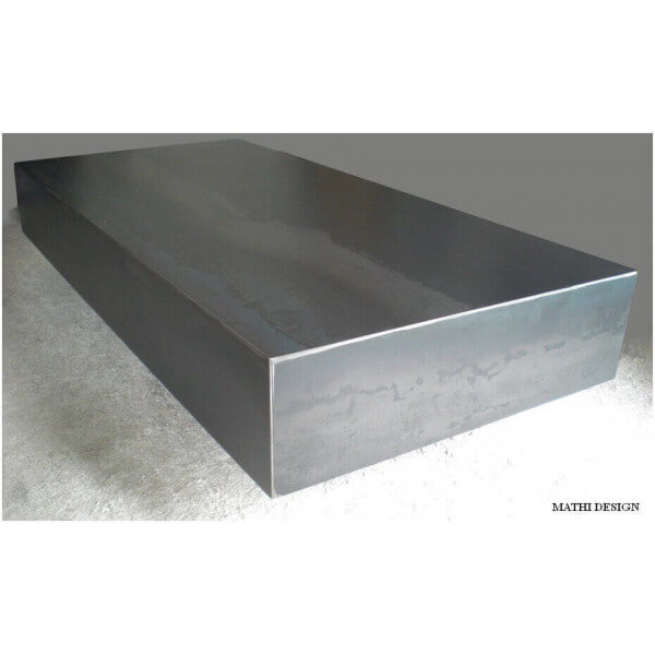 Table basse salon rectangulaire table design en acier - Table design acier ...