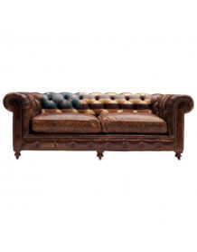 Canapé Chesterfield en cuir