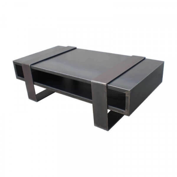 Table basse acier design for Table basse de salon design
