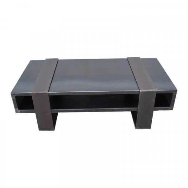 table basse design acier vacances arts guides voyages. Black Bedroom Furniture Sets. Home Design Ideas