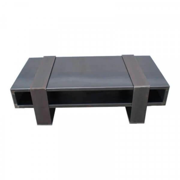 table basse acier design. Black Bedroom Furniture Sets. Home Design Ideas