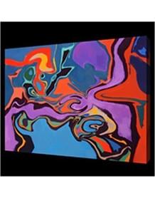 Tableau abstrait coloré Fields