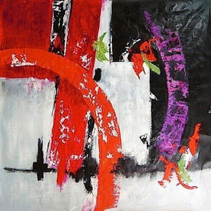Abstract oil painting Aquarius