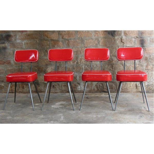 Chaise vinyl manufactori mobilier retro fifties des - Chaise design annee 50 ...