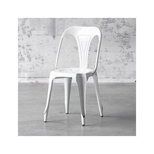 Chaise multipl 39 s blanche - Chaise laquee blanche ...