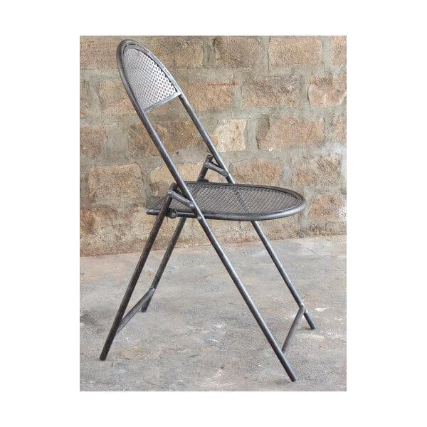 Chaise pliante acier perfor for Chaise acier