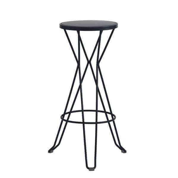 tabouret haut madrid mobilier en acier ext rieur et. Black Bedroom Furniture Sets. Home Design Ideas