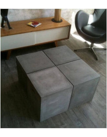 Table modulable beton