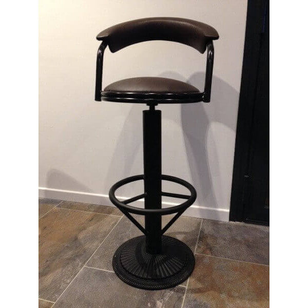Industrial barstool with backrest - Tabouret bar style industriel ...