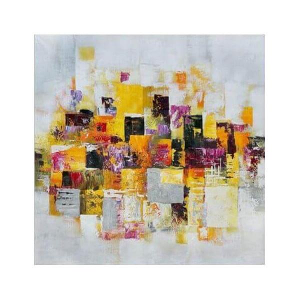Tableau moderne peinture huile for Tableau design colore