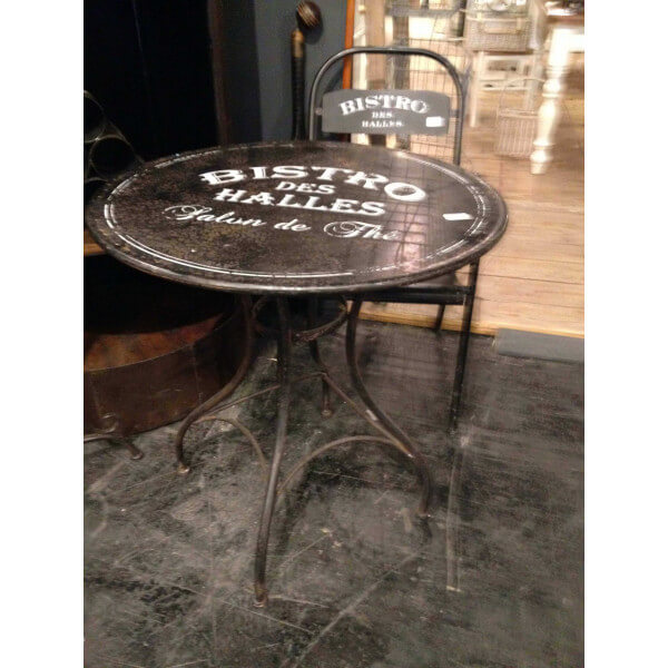 Table de bistro vintage ronde - Table bistrot exterieur ...