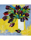 Oil painting Black Tulips
