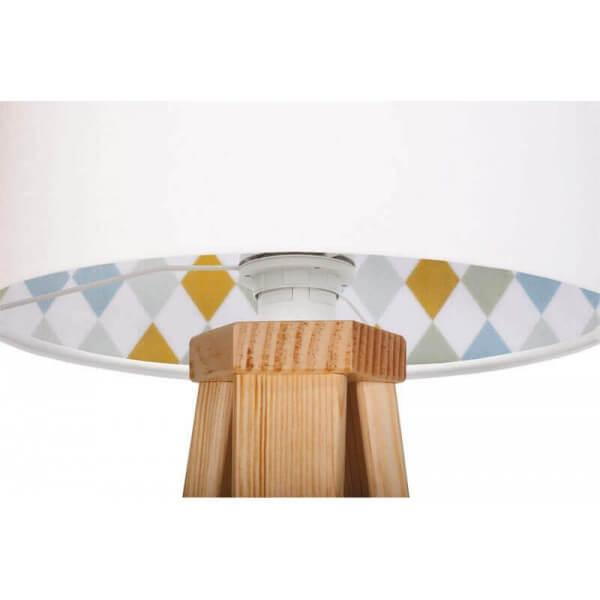 Original Wooden Tripod Lamp Scandinavian Style Decoration
