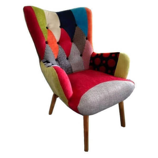 Java chair patchwork color armchair scandinavian style nordic style furniture - Fauteuil design patchwork ...